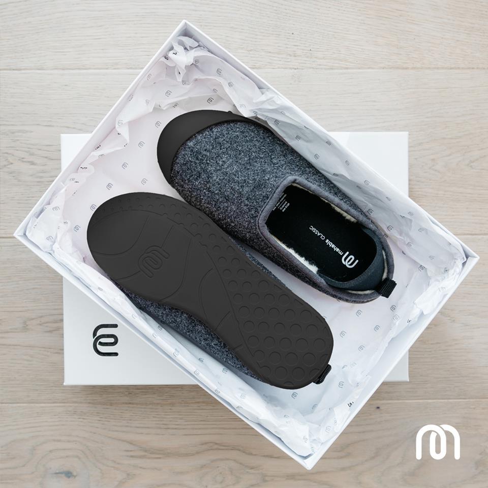 5d6dde86205 Mahabis Classic Unisex Slippers Larvika Dark Grey   Skien Black