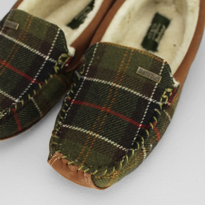 Womens Checked Pattern Comfort Classic Slip On Slippers UK Size