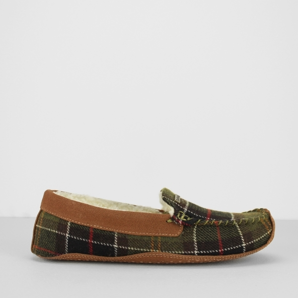 Barbour Betsy Ladies Moccasin Slippers Classic Tartan