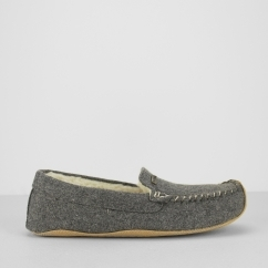 BETSY Ladies Moccasin Slippers Grey