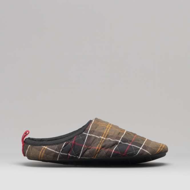 28d669f35d0d9 Barbour GUTHRIE Mens Quilted Mule Slippers Classic Tartan | House of ...