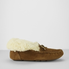 PATSY Ladies Bootie Moccasin Slippers Camel