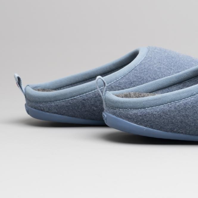f467fe2c1a8 WABI Ladies Wool Mule Slippers Blue