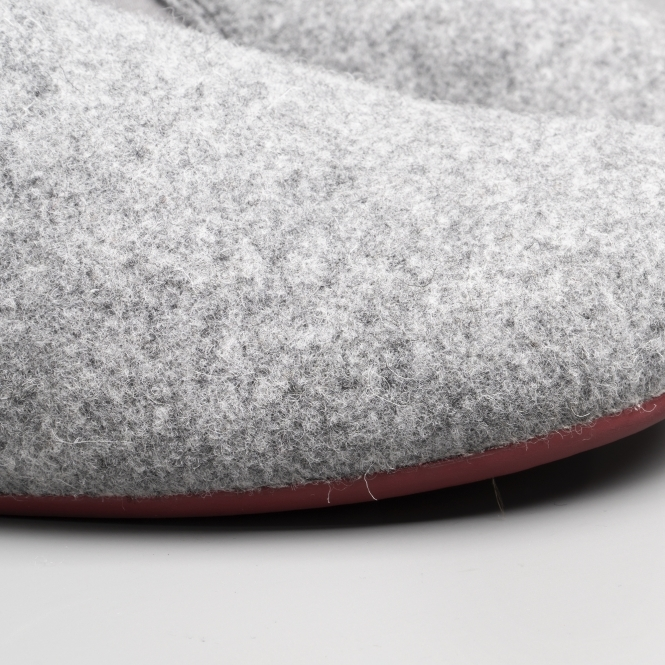 49ddbf869bb1 WABI Mens Wool Full Slippers Pastel Grey