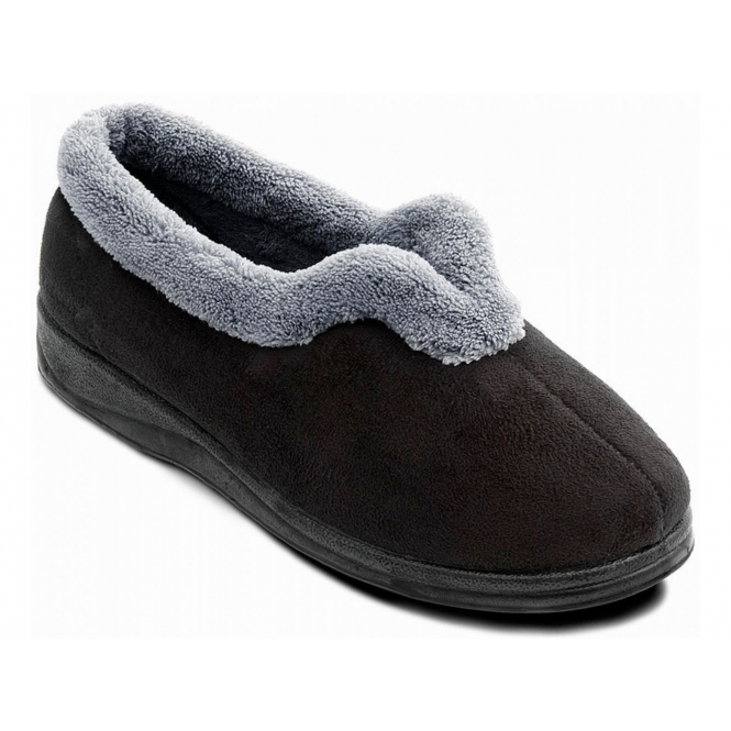 Padders CARMEN Ladies Full Slippers Black