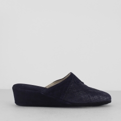 CERVIA Ladies Mule Slippers Blue
