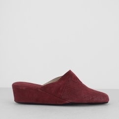 CERVIA Ladies Mule Slippers Bordeaux