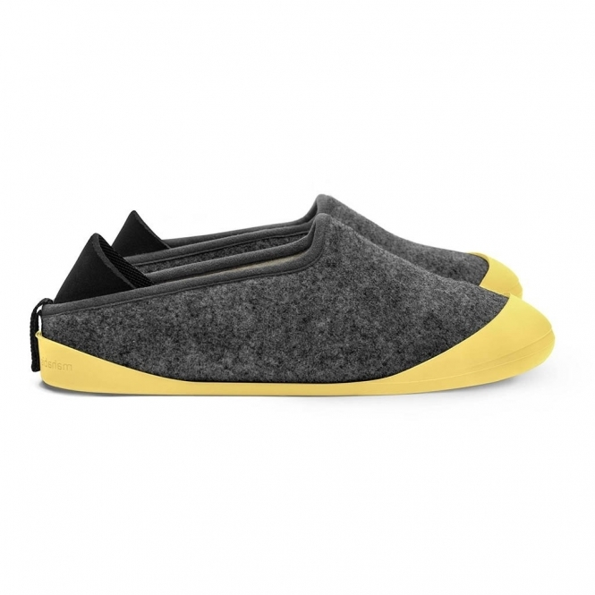 ff5d223b0c62 CLASSIC Slippers Larvik Dark Grey Skane Yellow (Sole Included)