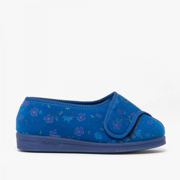 Comfylux Davina Ladies Full Slippers Blue House Of Slippers