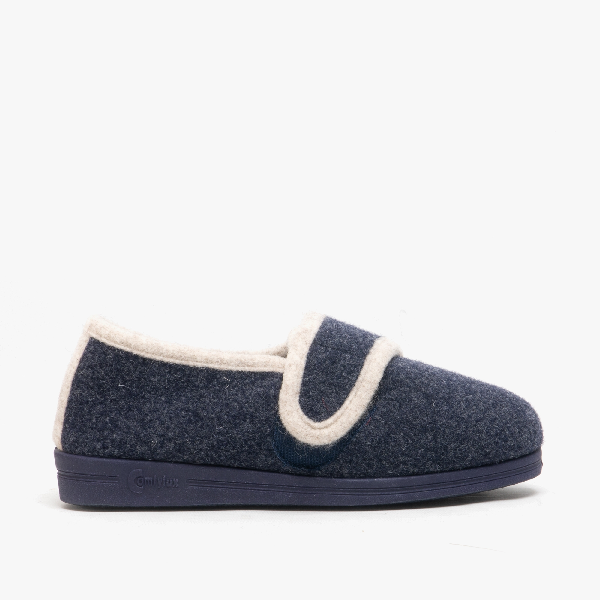 LADIES SIZE 3 4 5 6 7 8 9 BLUE COMFYLUX EEEE SUPERWIDE TOUCH FASTENING SLIPPERS