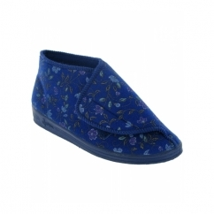 MULL Ladies Boot Slippers Blue