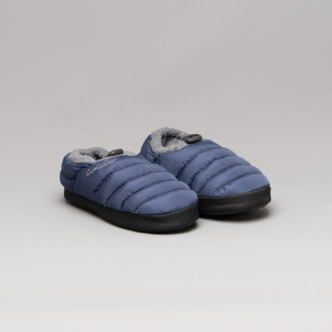 Cotswold CAMPING Kids Camping Slippers Navy | House of Slippers