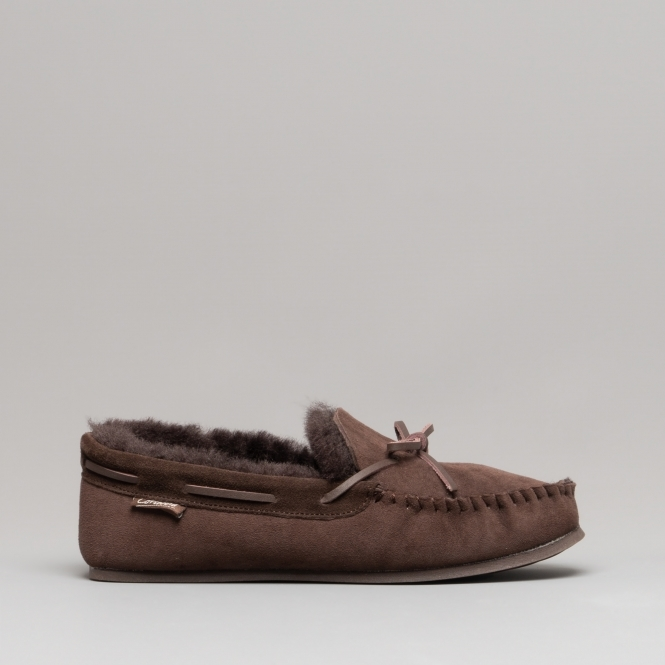 d50c365febd Cotswold STANWAY Ladies Moccasin Slippers Brown