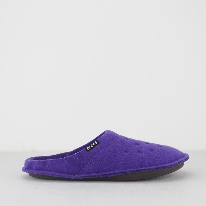 04e3e4aa21c22 Crocs CLASSIC SLIPPER Unisex Mules Ultraviolet/Oatmeal | House Of ...