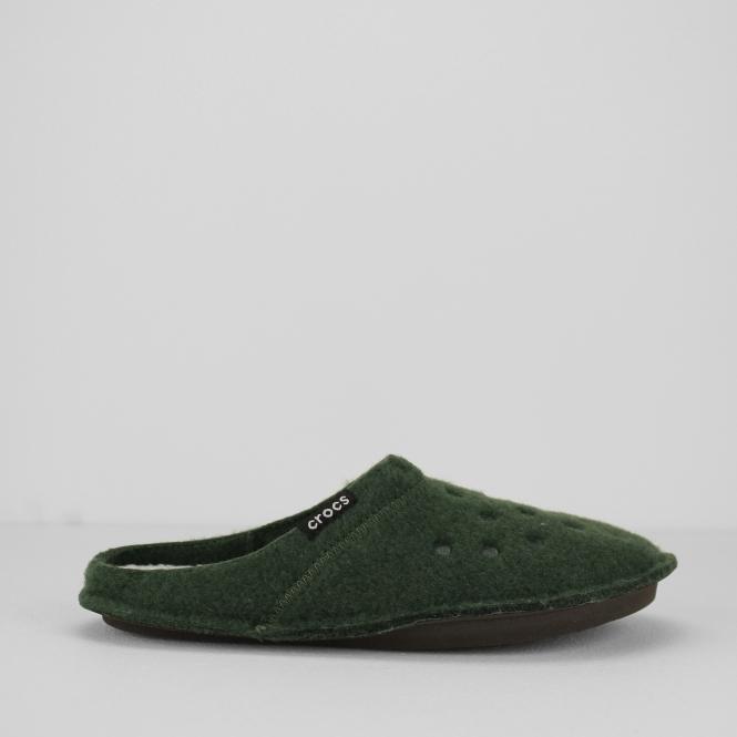 86e297b0a5980 Crocs 203600 CLASSIC SLIPPER Unisex Mules Forest Green/Oatmeal