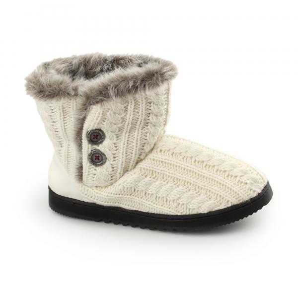 Dearfoams Emilie Ladies Boot Slippers Muslin House Of