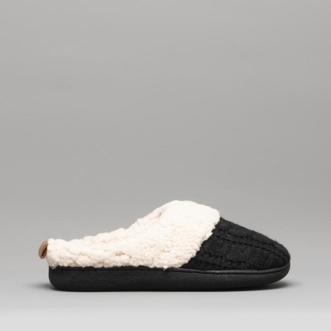 womens black mule slippers