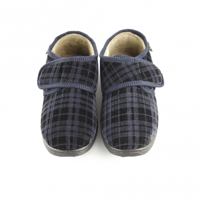 fd3745e20aa Dr Keller DON Mens Touch Fasten Shoes Slippers Grey