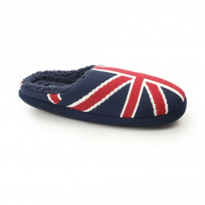 Dunlop ACE Mens Comfort Mule Slippers Union Jack | House of Slippers