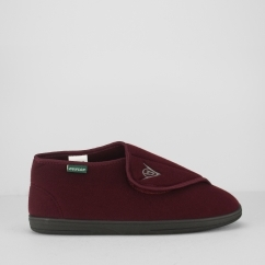 ALBERT Mens Touch Close Slippers Burgundy