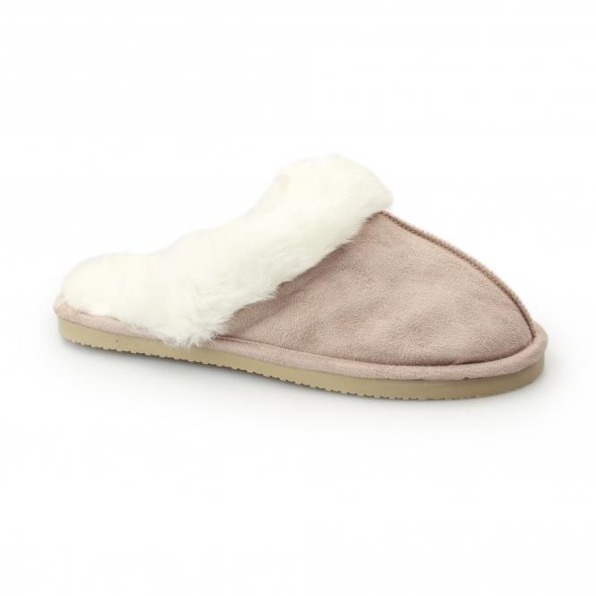 Ladies Dunlop Gabrielle Faux Suede Mule Slippers