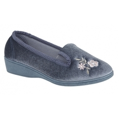 GINA II Ladies Full Slippers Blueberry