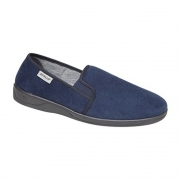 JETHRO Mens Full Slippers Blue