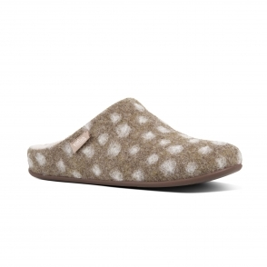 82f8eb12ab1691 FitFlop CLARA MOCCASIN DOTS N38-076 Moccasin Slippers Taupe