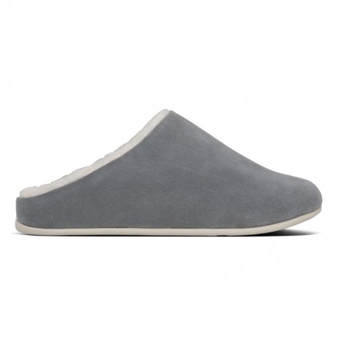 Fitflop Chrissie Shearling Ladies Mule Slippers Grey