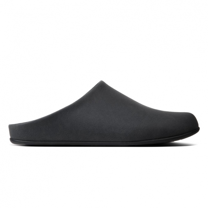 832a5a89b98c05 FitFlop SHOVE Q28-001 Mule Slippers Black