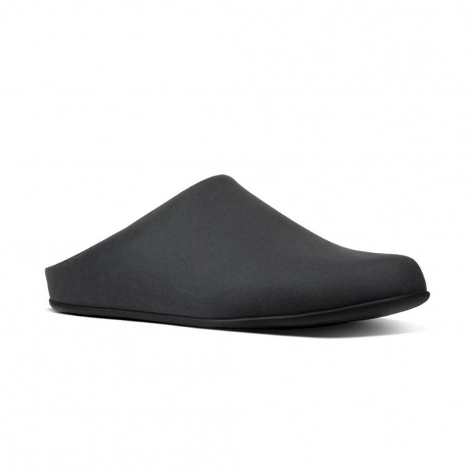 3cccc8802753 FitFlop SHOVE Q28-001 Mule Slippers Black