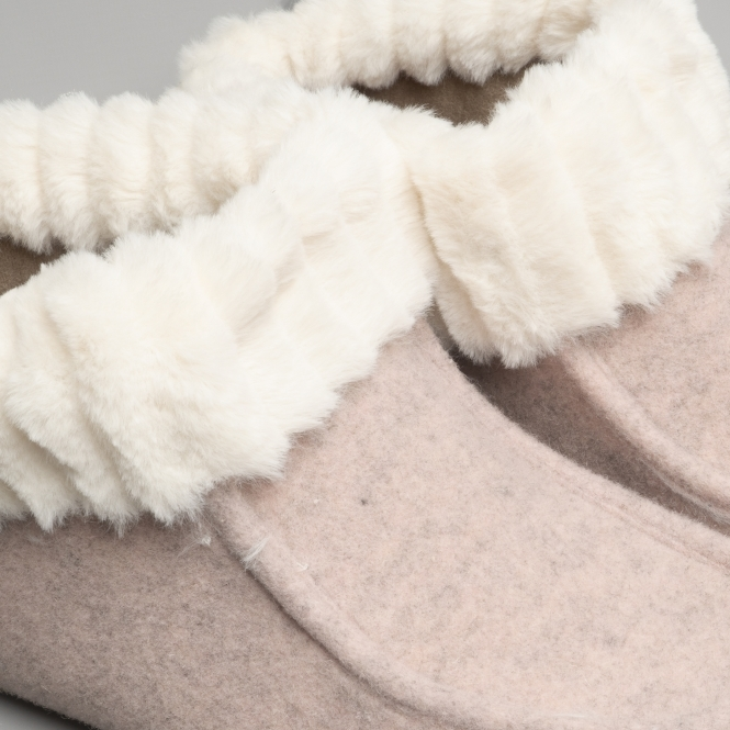 Fluffys OLIVIA Ladies s Womens Cosy Fleece Lined Moccasin Ankle Slipper Rosa