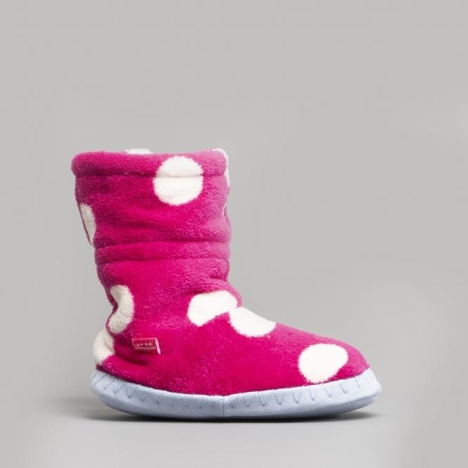 Joules Girls Padabout Slipper Socks in LIGHT BLUE RABBIT FLORAL