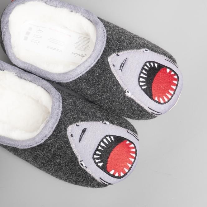 Joules SLIPPET Boys Shark Mule Slippers