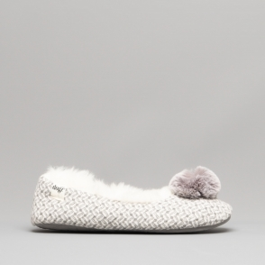 10841130c99 ALICE Ladies Fluffy Ballerina Slippers Grey Free EXPRESS Delivery. Lazy Dogz  ...