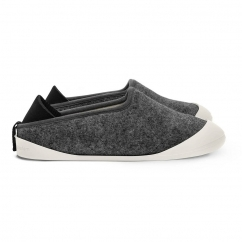 CLASSIC Slippers Larvik Dark Grey/Ilen Ivory (Sole Included)