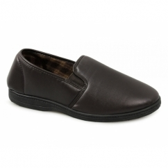 VISA Mens Slippers Brown