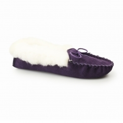 LIBBY Ladies Moccasin Slippers Purple