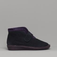 5aa5573c5 280 (AFELPADO) Ladies Suede Boot Slippers Marine Blue