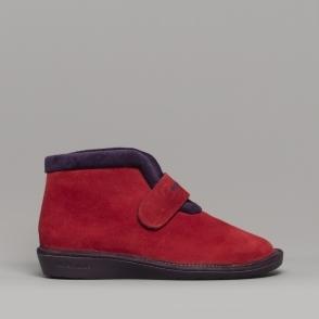 4960979977d4 280 (AFELPADO) Ladies Suede Boot Slippers Red