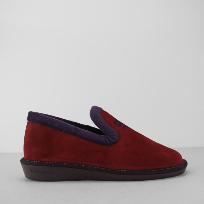 4d05830adb5db Nordikas 305 (AFELPADO) Ladies Suede Slippers Ruby Red