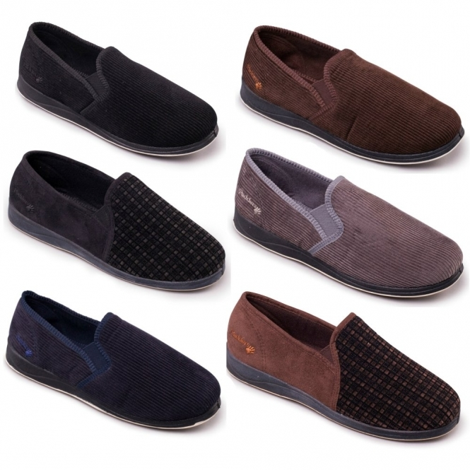 476e7aad31fe01 Padders ALBERT Mens Wide Fit Full Slippers Brown | House Of Slippers