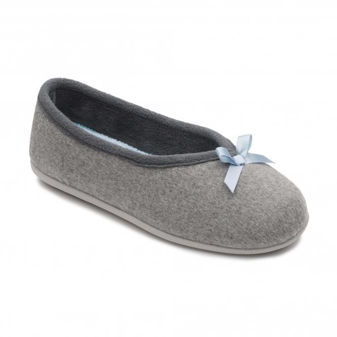 cf43d5a03cc7 Padders ALPS Ladies Felt Extra Wide (2E 3E) Slippers Grey