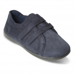 DUAL Mens Super Wide (G/H) Slippers Navy