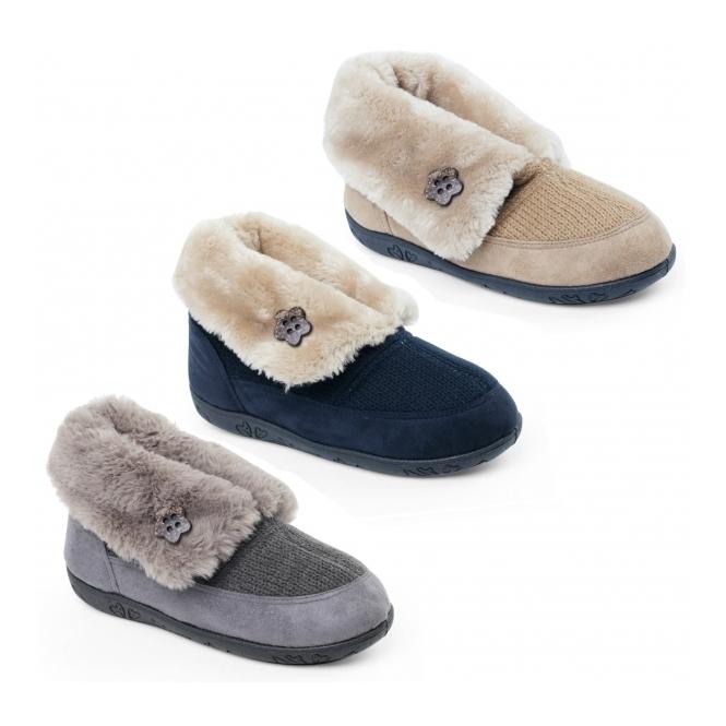 cb39b887ff Padders EDEN Ladies Boot Slippers Grey