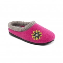 FREESIA Ladies Felt Extra Wide (2E/3E) Slippers Pink