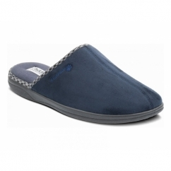 LUKE Mens Microsuede Wide (G Fit) Mule Slippers Navy