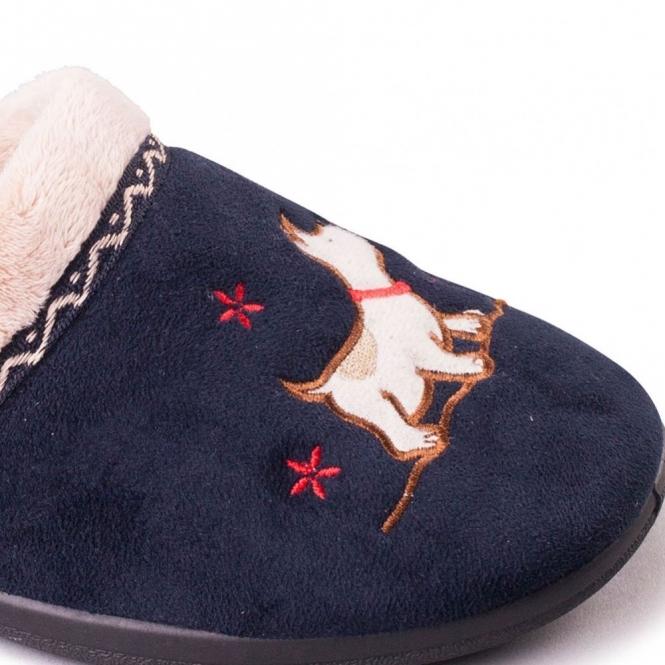 Navy UK 7 // US 9-9.5 Padders Women/'s Scotty X-Wide Fit Mule Slippers