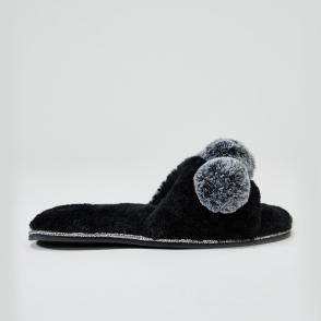 75b1f7a80ac Pretty You London ANYA Ladies Slide Slippers Mink