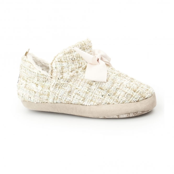 Pretty You London - Ruby Slippers - Beige - Small
